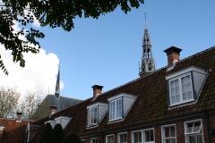 Groningen-126-Sint-Anthony-Gasthuis-Hofje-en-toren-Kathedraal